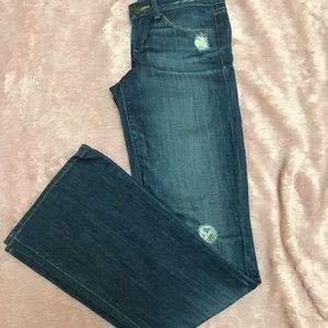 Distressed Gap Boot-cut Jeans